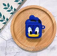 """Защитный силиконовый чехол для AirPods """"Donald Duck"""" с карабином"""