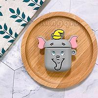 """Защитный силиконовый чехол для AirPods """"Gray Elephant"""" с карабином"""
