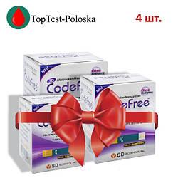 Тест-полоски SD CodeFree GlucoDr 4 упаковки