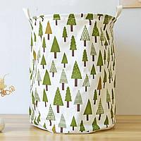 """Корзина для белья и игрушек на завязках """"Зеленый лес"""", фото 1"""