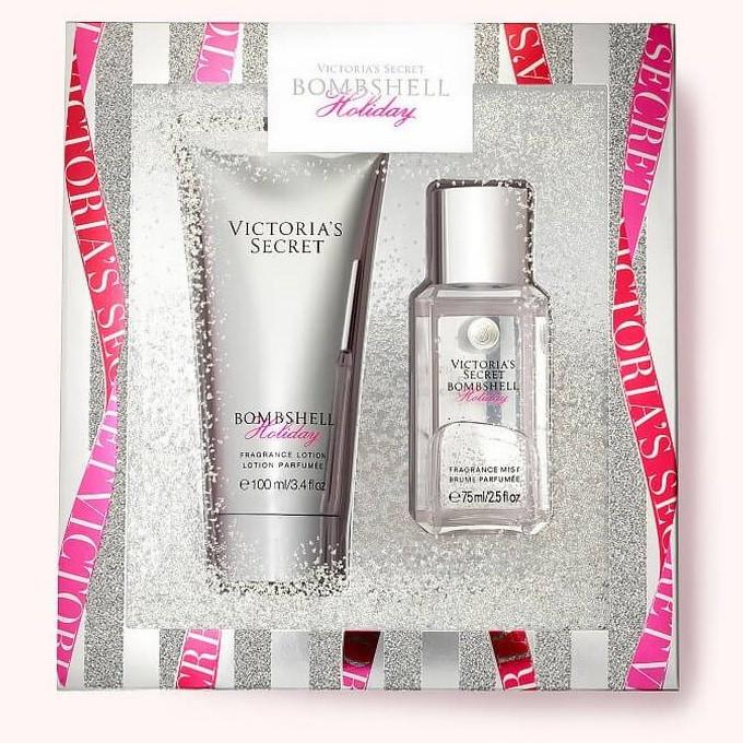 Подарочный набор спрей и лосьон для тела Victoria's Secret Bombshell Holiday (оригинал)
