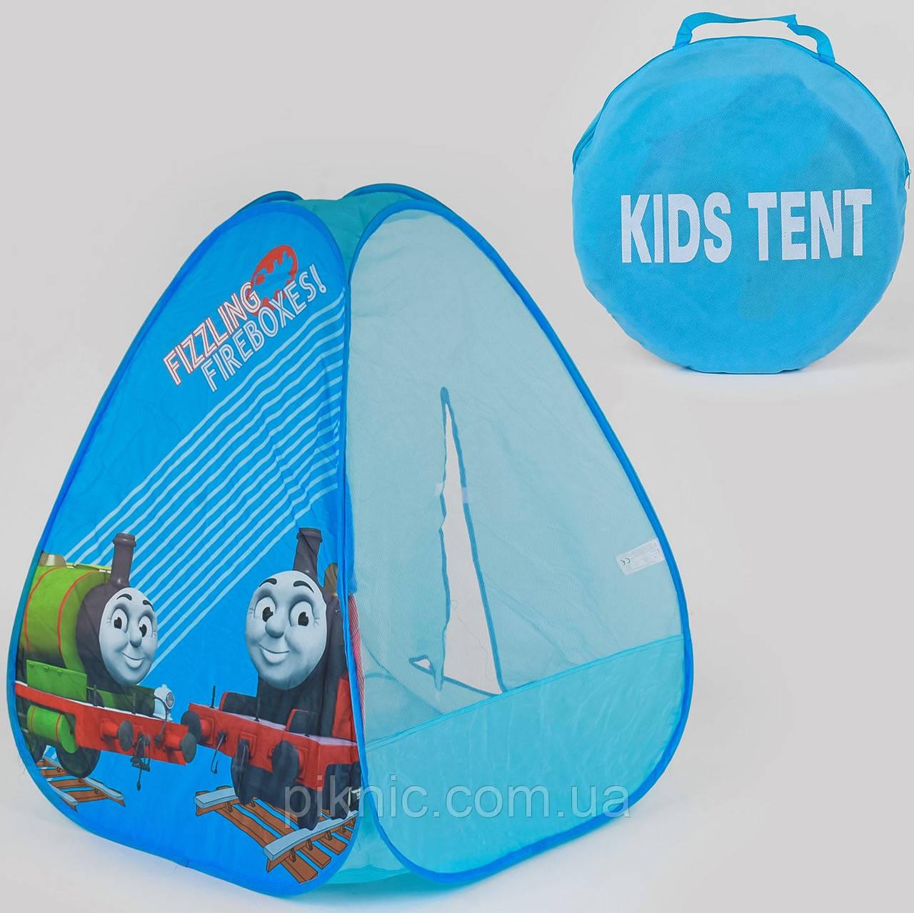 Палатка Паровозик Томас для детей 77х77х93 см. Детская игровая палатка для дома и улицы