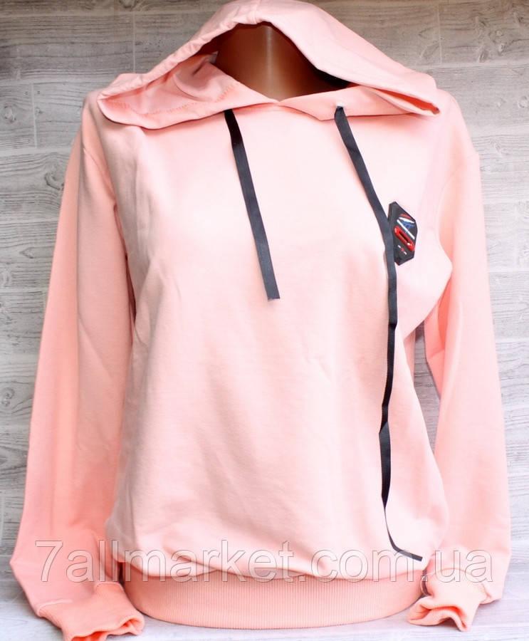 """Батник женский Pink Daisy с капюшоном размер унив 42-46 (7цв) """"LEDI"""" купить оптом в Одессе на 7 км"""