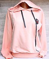 """Батник женский Pink Daisy с капюшоном размер унив 42-46 (7цв) """"LEDI"""" купить оптом в Одессе на 7 км, фото 1"""
