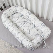 Кокон гнездышко со сьемным чехлом, бейбинест, кроватка для новорожденного, люлька, бортики мягкие в детскую