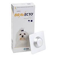 Бравекто Жевательная таблетка для защиты собак от клещей и блох 2-4.5 кг