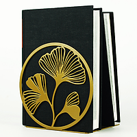 Металлический упор для книг Glozis Ginkgo Bronze (бронза), фото 1