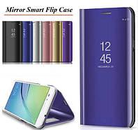 Зеркальный Smart чехол-книжка Mirror для Xiaomi Redmi Note 8 Pro / черный /