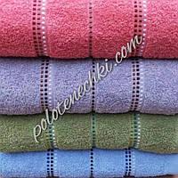 Банное полотенце махровые Полосочки