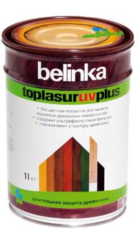 Belinka ТopLasur UV Plus 10 литров покрытие с уф-фильтрами и абсорбентами для защиты древесины