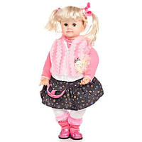 Детская музыкальная интерактивная кукла Настенька для девочек 60 см