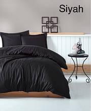 Комплект постельного белья сатин  Altinbasak евро размер Siyah