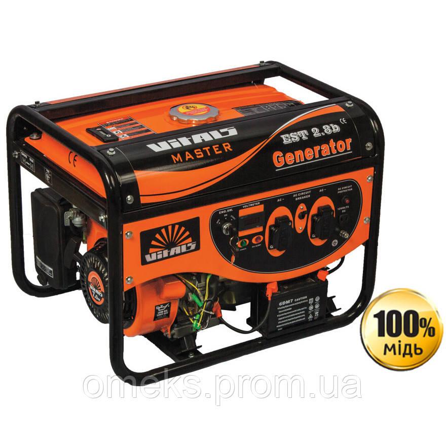 Бензиновый генератор Vitals Master EST 2.8b DTZ
