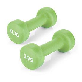 Гантели для фитнеса 2х0,75 кг Spokey SHAPE IV 920893 (original) виниловое покрытие