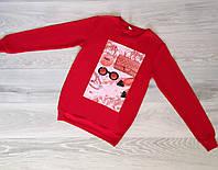 Батник женский Турция р.S.M.L Оптом Красный, фото 1