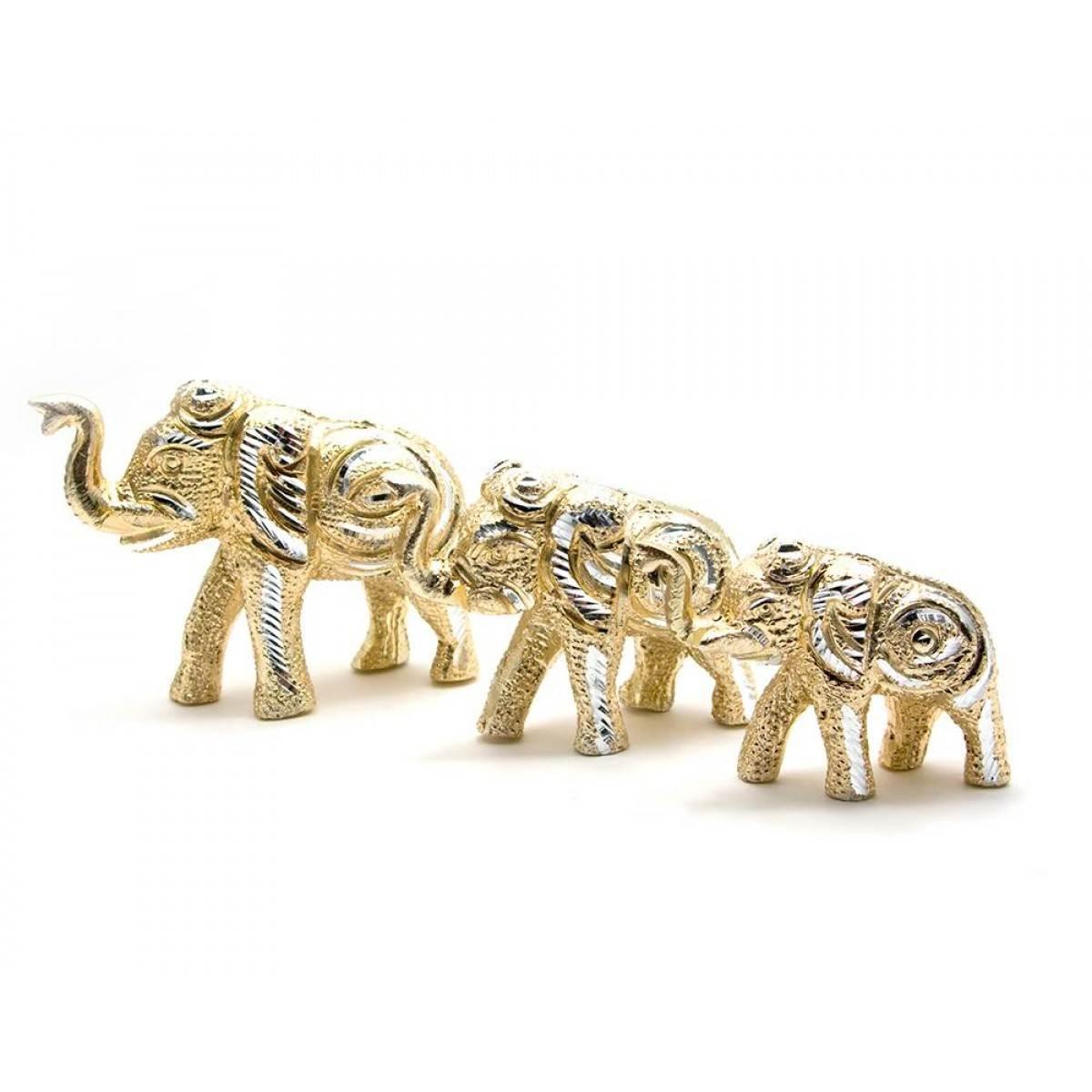 Слоны резные алюминий н-р 3 шт 11,5х7,5см8х6см8х5,5см 25893
