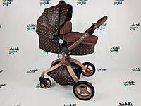 Универсальная коляска 2 в 1 Hot Mom НОВИНКА louis vuitton 2020 Полностью еко кожа Новый цвет Новинка!