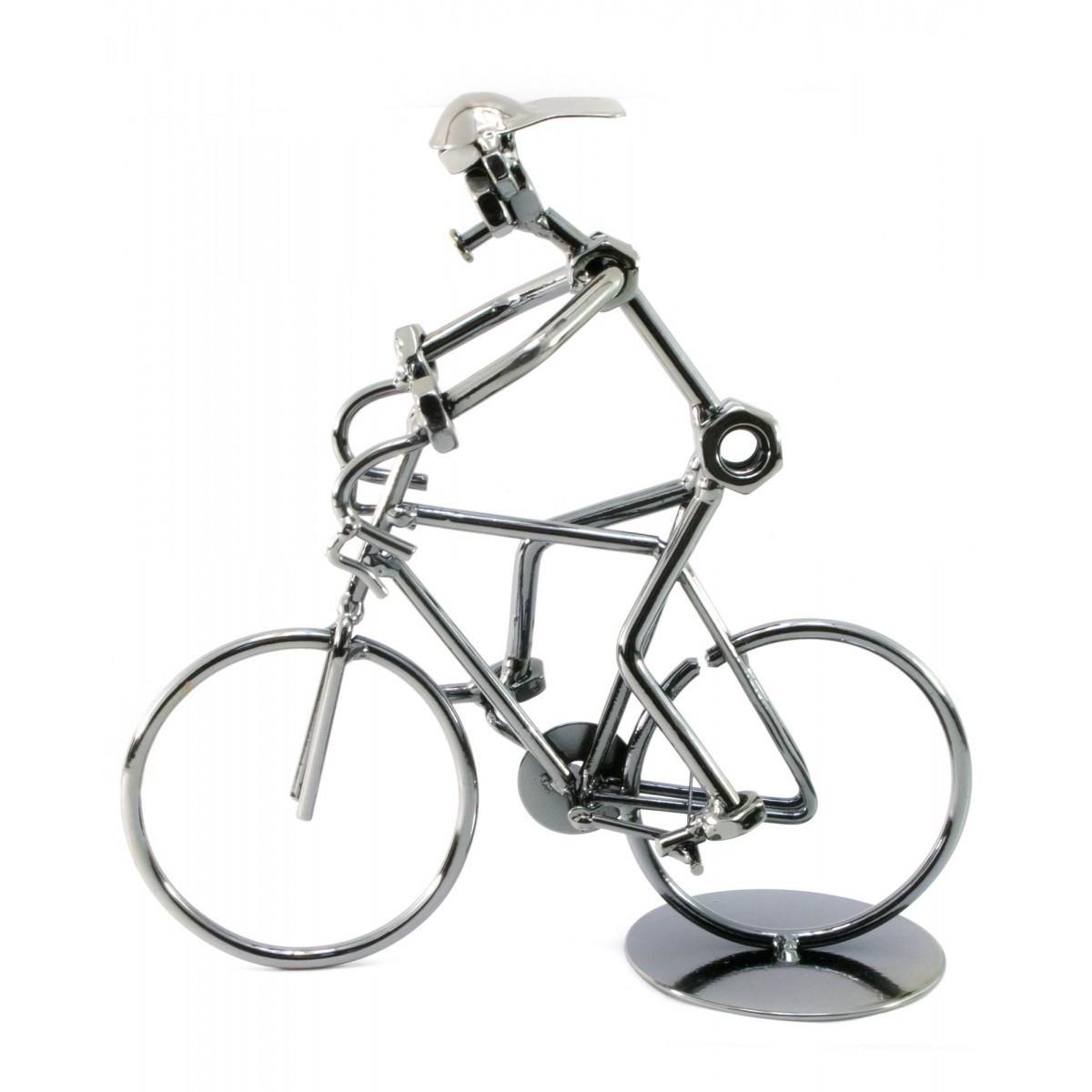 """Техно-арт """"Велосипедист"""" металл 20х19х7 см 25066"""