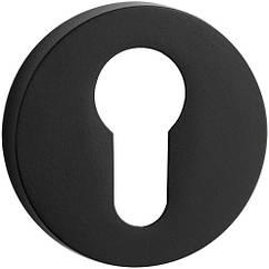 Накладка под цилиндр на круглой розетке Yalis ES74-SB чёрный