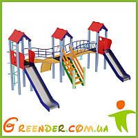 Детские игровые комплексы Стена, высота горки 1,2 м и 1,5 м