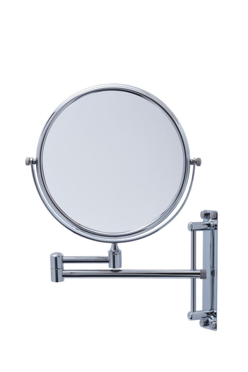 Зеркало косметическое увеличительное, латунь хромированная, код 2084