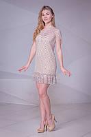 Короткое платье прямого кроя с оборкой по краю (S)