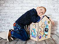 Бизи домик, Космический домик с пазлом, бизидом,развивающие игрушки, бизиборд домик, домик со светом,