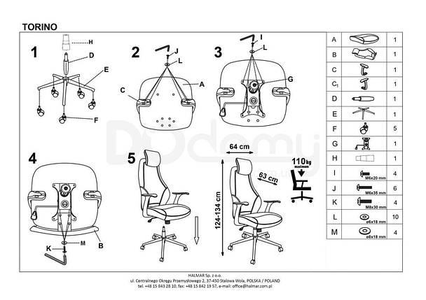 Компьютерное кресло Torino Halmar, фото 2