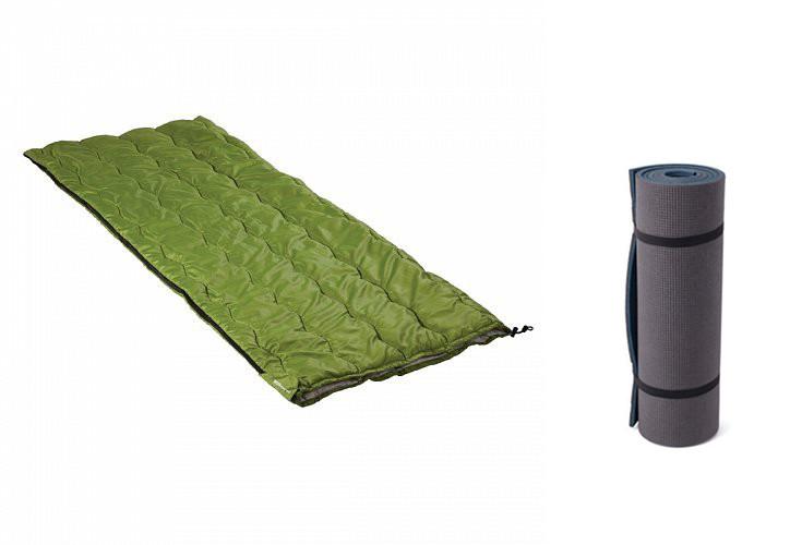Спальный мешок-одеяло Кемпинг CMG-3562 + коврик-каремат Кемпинг CX