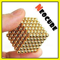 Конструктор головоломка Neocube Радуга 216 неодимовых шариков в боксе магнитный нео куб золотой 5мм