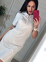 Белое платье поло Турция, фото 1