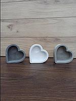 Гіпсове кашпо у формі серця, фото 1