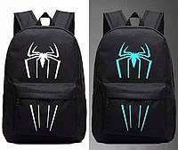 Светящийся городской рюкзак с usb зарядкой + замок (Паук)