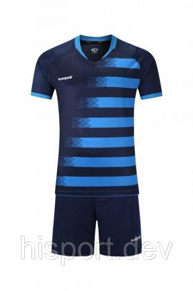 Игровая футбольная форма для команд т.сине-синяя 021 Europaw