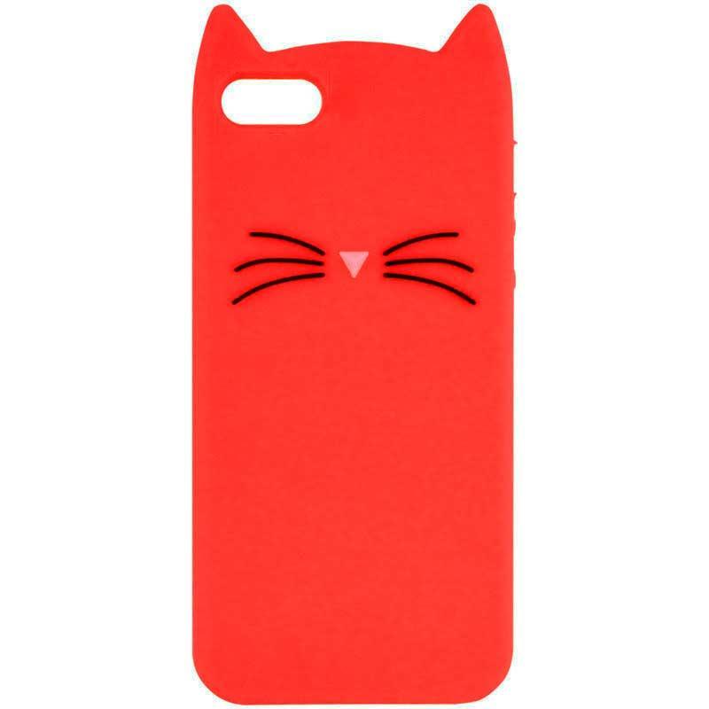 """Силиконовая накладка 3D Cat для Apple iPhone 7 / 8 (4.7"""")"""