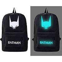 Светящийся городской рюкзак с usb зарядкой + замок (Бэтмен)
