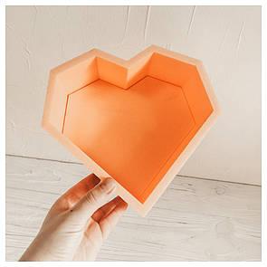 Пенобокс для цветов - Сердце грани мини 20*21*10 см