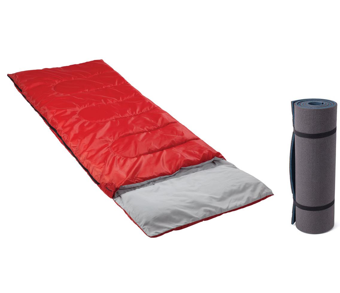 Спальный мешок с подушкой Кемпинг CMG/B-1972 + коврик-каремат CX