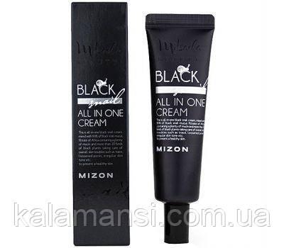 Улиточный крем с экстрактом черной улиткой от Mizon Black Snail All In One Cream, 35 мл