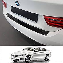 Захисна накладка на задній бампер для BMW 4-series F36 4dr Coupe 2014+ /карбон/