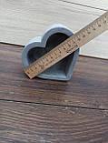 Гіпсове кашпо у формі серця, фото 7