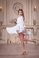 Нарядное короткое белое платье на девичник (XS/S, S/M, M/L, L/XL)