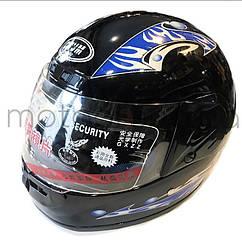 Шлем 825 чёрный глянцевый