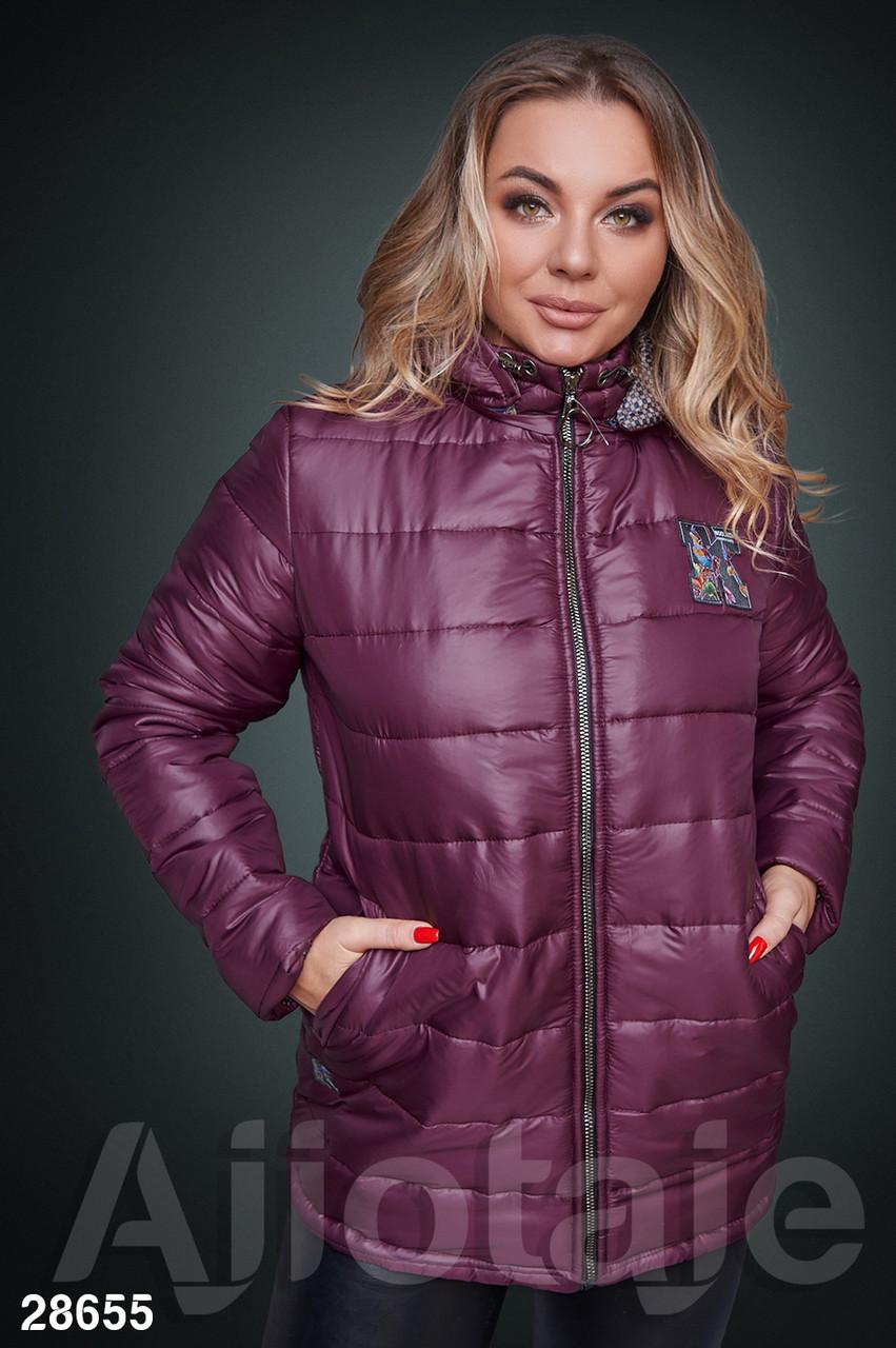 Жіноча демісезонна курточка з стьоганої плащовки