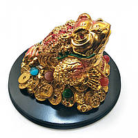 Жаба золотая на подставке 10х14х14 см 2299