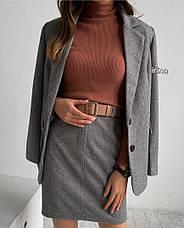Женский костюм с юбкой в клетку, фото 2