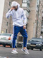 Мужской костюм Adidas Classic синий с белым