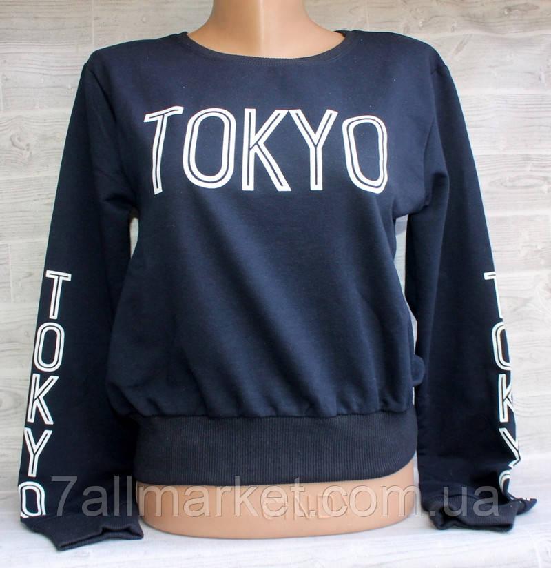 """Свитшот-топ женский молодежный TOKYO, размеры S-M/M-L (6цв) """"LEDI"""" купить недорого от прямого поставщика"""