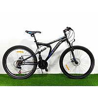 """Велосипед горный (MTB) Azimut Blaster FR-D 26 дюймов, рама 18"""" Blek and Blue"""