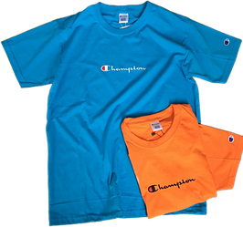 Мужские футболки Champion (ориг.бирка и качество) синяя и оранжевая